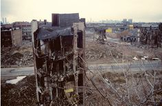 Bushwick, Brooklyn in the 80s... you can see the twin towers in the background... (Steven Siegel)