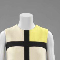 Mondrian Dress, Yves Saint Laurent, Abraham, Bianchini-Férier, 1965 - Rijksmuseum