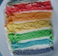 """tęczowy tort """"od środka"""""""