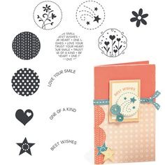"""Close to My Heart My Acrylix Stamp Set Circle Together  Set of 12  Recommended My Acrylix® Blocks:  1"""" × 1"""" (Y1000), 2"""" × 2"""" (Y1003)    $9.95"""