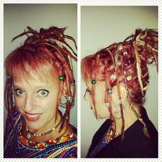 I love #dreadlockcreations. Side and front view of #dreadbraidupstyles. Video #dreadtutorials on YouTube. Check out my blog www.dreadlockfreedom.com (click on IG link) go to youtube.  Cheers #dreadshare #thegratefuldreads #hippiechicktrainer #wooldreads #hippiechick #womanwithdreads #wonderlocks #hippie #dreadlockfreedom #dreadlifestyle #dreadcode #hippieatheart #bohemian #babydreads #motivation #dreadstuff #dreadbeads #dreads #dreadlocks #dreadmama #dreams #dreadlockjourney