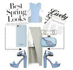 """Baby Blue"" by nikki11nguyen ❤ liked on Polyvore featuring Qupid, H&M, Isaac Mizrahi, D'Albert, Jonathan Simkhai, Bottega Veneta, Chanel, women's clothing, women and female"