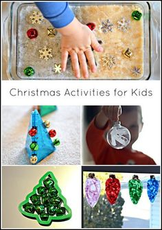 Christmas activities, crafts, and sensory ideas for kids from And Next Comes L