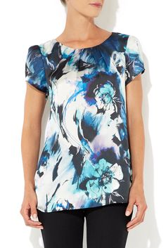 Blue Sketch Floral Shell