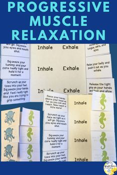 Progressive muscle relaxation foldable activities for elementary students. Teach progressive muscle relaxation, mindfulness, and relaxation strategies with these cute sea creature foldable activities! Elementary School Counselor, School Counseling, Elementary Schools, Group Counseling, Primary Education, High Schools, Coping Skills, Social Skills, Social Work