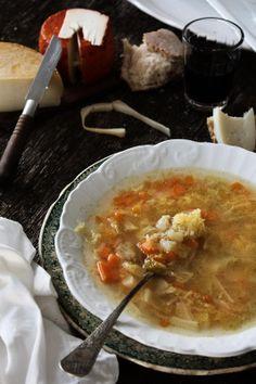 Sopa de couve lombarda e cenoura