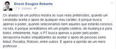 RN POLITICA EM DIA: DO TWITTER DO PROFESSOR ENOCK DOUGLAS...