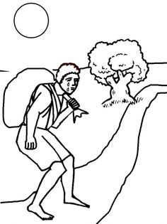 cain and abel. coloring page, script and bible story. http ... - Bible Coloring Pages Cain Abel