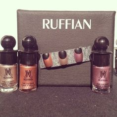 SO excited to share a first sneak peek at the brand new collection of metallic Ruffian nail lacquers backstage at their #nyfw show! Look out for the new colors exclusive at Birchbox in May! #bbnyfw
