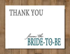 items similar to bridal shower thank you cards printable custom simplistic on etsy