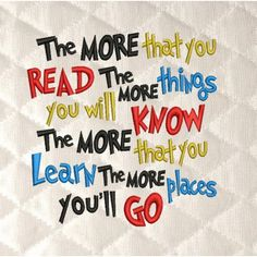 The more you that you read colors machine embroidery 3 sizes 4x4,5x7,6x10