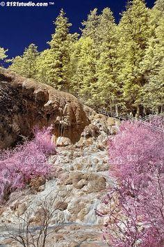 Calcium deposits and streams