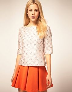 ASOS Shell Top With Printed Jacquard - StyleSays