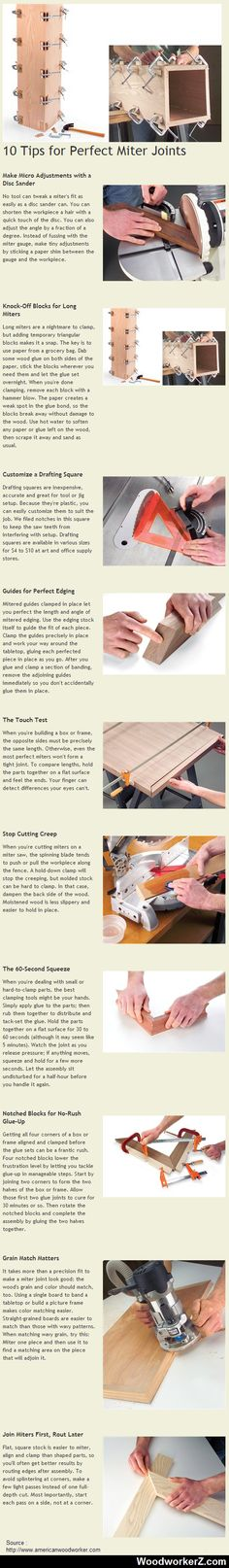 10 Tips for Perfect Miter Joints