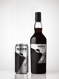 Noire / Personal project for a coffee liqueur. The design was inspired by the film noir, which tries to convey the sensuality and mystery of this film, which are characteristics of this drink. The design expresses the above by a semi-abstract image in light and shade and the simple application of type.