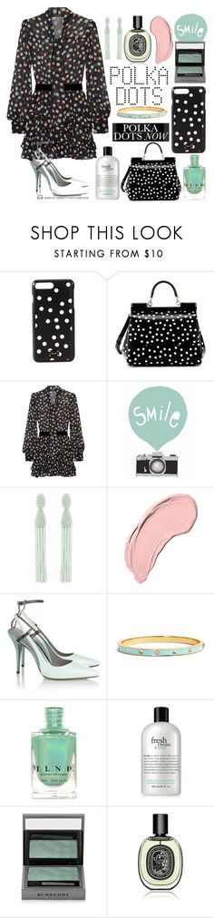 """Polka Dots Now!"" by curekitty ❤ liked on Polyvore featuring Dolce&Gabbana, Marc Jacobs, Seventy Tree, Oscar de la Renta, NYX, Alexander Wang, Kate Spade, Olsen, philosophy and Burberry"