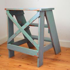 Ana White | Build a Vintage X Back Step Stool End Table | Free and Easy DIY Project and Furniture Plans