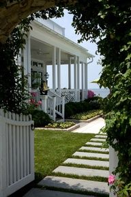 Home exterior designs are a crucial part of your home's curb appeal. They're the first thing anyone sees about your home, and they play a big role in how your home is perceived. Cottages By The Sea, Beach Cottages, Coastal Homes, Coastal Living, Beach Homes, Coastal Cottage, White Cottage, Cottage Style, Dream Beach Houses