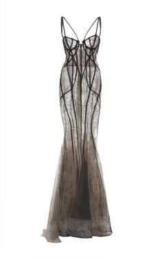 Beaded Lace Corset Gown by MARCHESA for Preorder on Moda Operandi - customdresses Pretty Dresses, Beautiful Dresses, Marchesa Gowns, Lace Corset, Corset Dresses, Bustier Dress, Future Fashion, Alternative Fashion, Dress To Impress