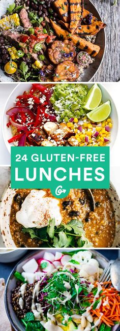 24 Gluten-Free Lunches (That Aren&;t All Salads) 24 Gluten-Free Lunches (That Aren&;t All Salads) Carola M. carolamuggentha Essen In the mood for something new? These gluten-free recipes […] free lunch Gf Recipes, Lunch Recipes, Healthy Recipes, Recipes Dinner, Chicken Recipes, Cake Recipes, Indian Recipes, Shrimp Recipes, Breakfast Recipes