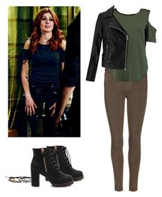Clary Fray - shadowhunters by shadyannon on Polyvore featuring polyvore fashion style Miss Selfridge Paige Denim clothing