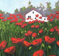 Large Poppy Field, via Etsy