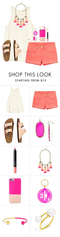 """""""dare to be different."""" by graciegerhart7 ❤ liked on Polyvore featuring H&M, TravelSmith, Kendra Scott, NARS Cosmetics and BaubleBar"""