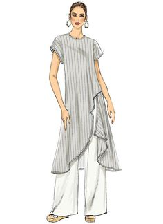 V9305 | Misses' Tunic and Pants Sewing Pattern | Vogue Patterns