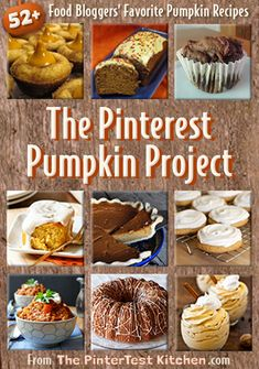 The Pinterest Pumpkin Project: 52+ Top Food Bloggers Share Their Favorite Pumpkin Recipes @Allison j.d.m Boyer [The PinterTest Kitchen]
