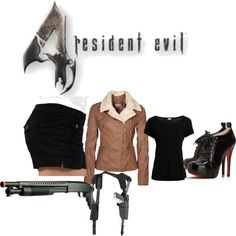 Resident Evil 4 Female Leon S. Kennedy Cosplay -- regardless of the cosplay, this is a cool outfit!