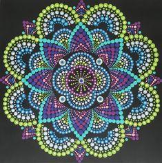 Mandala Madness by Mandala Art, Mandala Canvas, Mandala Rocks, Mandala Painting, Mandala Pattern, Mandala Design, Pattern Art, Aboriginal Art Dot Painting, Dot Art Painting