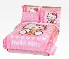 Hello kitty bedroom ideas, decor, design, DIY, offices, kids, for teens, girls, furniture, paint, set, walls, pink, awesome, daughters and etsy for your dream rooms