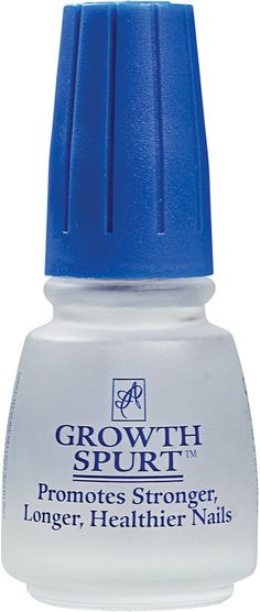 American Classics Growth Spurt. $5.49 at Sally Beauty Supply. I received this for Christmas as a gift and I started using it as a base coat. It has really made my nails grow fast! I would definitely recommend this.
