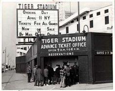 Former Tiger Stadium in Detroit, Michigan Detroit Sports, Detroit Tigers Baseball, Detroit Area, White Sox Baseball, Baseball Park, Saginaw Michigan, Detroit Michigan, Tiger Stadium, Baseball Pictures