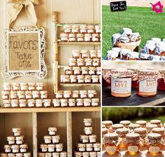 Potinho de mel como lembrança de casamento