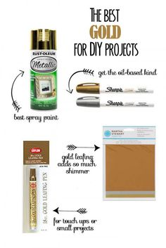 The Best Gold for DIY Projects #howdoesshe #crafting #decoratingwithgold howdoesshe.com