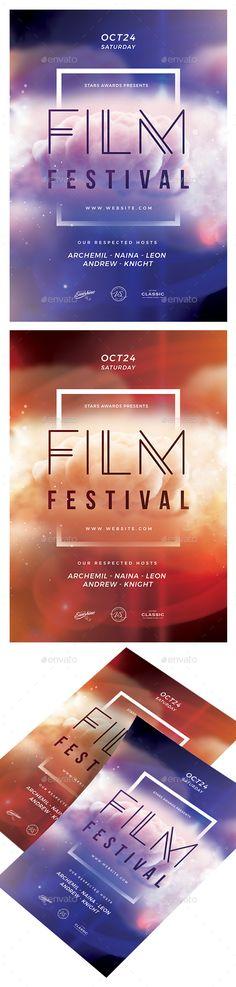 Film Festival Flyer Template PSD