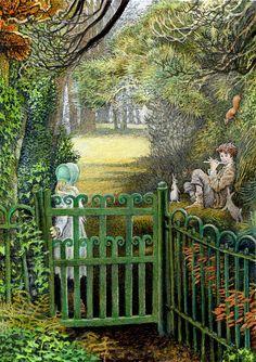 """Inga Moore — """"The Secret Garden"""" (Book author: Frances Hodgson Burnett),2007 (950x1348)"""