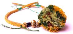 leather pompom bracelet - Anna Ben
