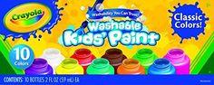 Crayola Washable Kids Paint set of 10 Bottles (2 fl oz/59mL), http://www.amazon.com/dp/B00004UBH3/ref=cm_sw_r_pi_awdm_vgsmwb1K248TA