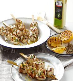 Swordfish Burgers with Lemon Vinaigrette