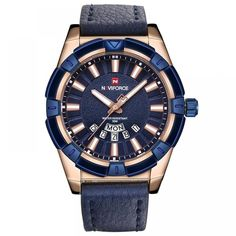 Cheap masculinos relogios, Buy Quality masculino reloje directly from China masculino watch Suppliers: NAVIFORCE 2018 New Brand Watches Men Fashion Quartz reloj Leather Sports Wristwatch Men's Auto Date Clock relogio masculino Best Watches For Men, Mens Sport Watches, Cool Watches, Men's Watches, Casual Watches, Wearable Technology, Watch Brands, Fashion Watches, Luxury Branding