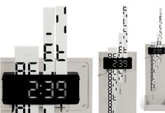 digital clock graphic design - Google Search