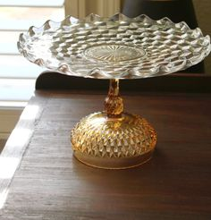 Cake Stand 14 Vintage Wedding Cake Pedestal by TheRocheStudio, $80.00