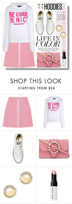"""""""In My Hood: Cozy Hoodies"""" by sans-moderation ❤ liked on Polyvore featuring Prada, Dsquared2, Converse, Miu Miu, Bloomingdale's, Bobbi Brown Cosmetics, Dolce&Gabbana, Hoodies, polyvoreeditorial and polyvorecontest"""