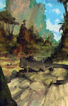 Lizard Watch, Halil Ural on ArtStation at https://www.artstation.com/artwork/qANbP
