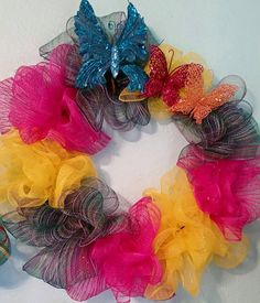 Hey, I found this really awesome Etsy listing at https://www.etsy.com/listing/236831762/summer-butterfly-wreath