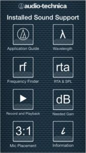 The Audio-Technica Installed Sound Support App