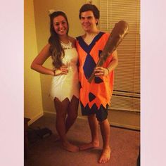 DIY fred and wilma flintstone costumes