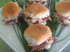 BBQ Pork Sliders...so easy to make at home.    #Catering #Caterer #EventPlanning #Appetizers